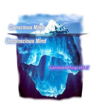 Iceberg - Conscious Mind, Unconscious Mind, Sublimated Things of Self